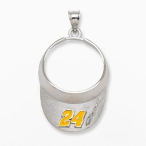 Insignia Collection NASCAR Jeff Gordon Sterling Silver 24 Visor Pendant