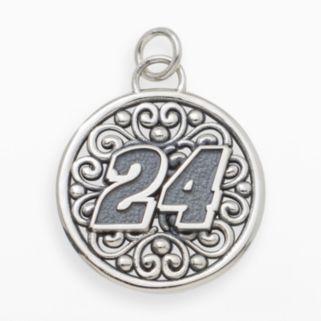 Insignia Collection NASCAR Jeff Gordon Sterling Silver 24 Pendant