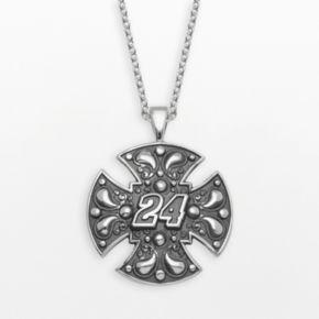 Insignia Collection NASCAR Jeff Gordon Sterling Silver 24 Maltese Cross Pendant