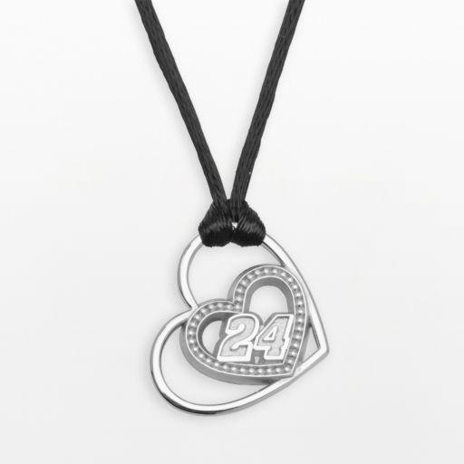 Insignia Collection NASCAR Jeff Gordon Sterling Silver 24 Heart Pendant
