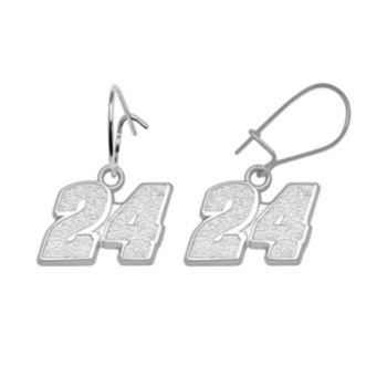 Insignia Collection NASCAR Jeff Gordon Sterling Silver 24 Drop Earrings