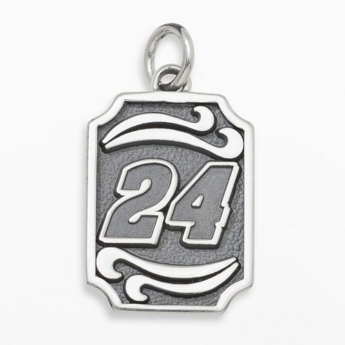 "Insignia Collection NASCAR Jeff Gordon Sterling Silver ""24"" Pendant"