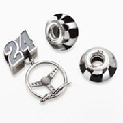 Insignia Collection NASCAR Jeff Gordon Sterling Silver '24' Steering Wheel Charm & Bead Set