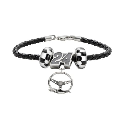 Insignia Collection NASCAR Jeff Gordon Leather Bracelet, Steering Wheel Charm and Bead Set