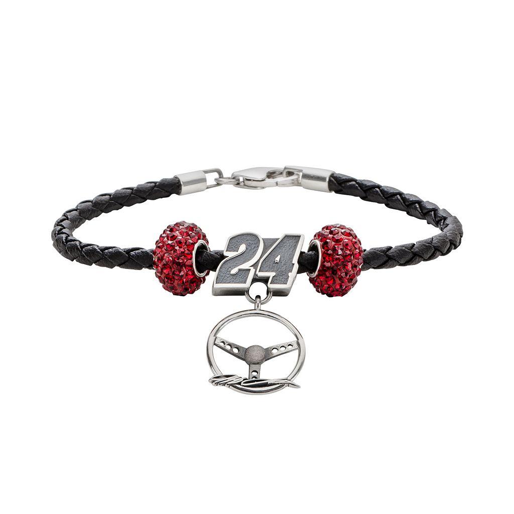 Insignia Collection NASCAR Jeff Gordon Leather Bracelet, Steering Wheel Charm & Bead Set