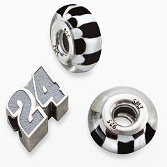 Insignia Collection NASCAR Jeff Gordon Sterling Silver '24' Bead Set
