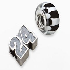 Insignia Collection NASCAR Jeff Gordon Sterling Silver '24' Bead Set