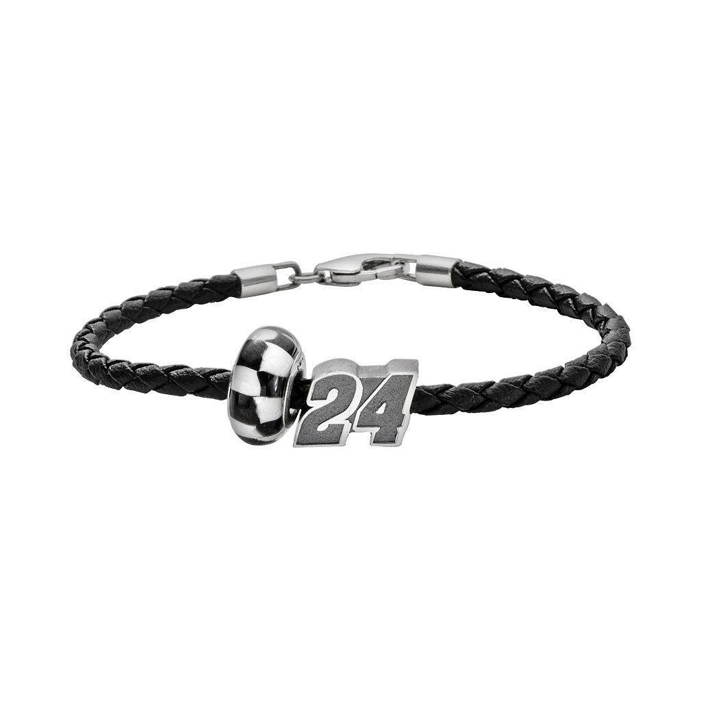 Insignia Collection NASCAR Jeff Gordon Leather Bracelet &