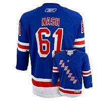 Boys 8-20 Reebok New York Rangers Rick Nash NHL Replica Jersey