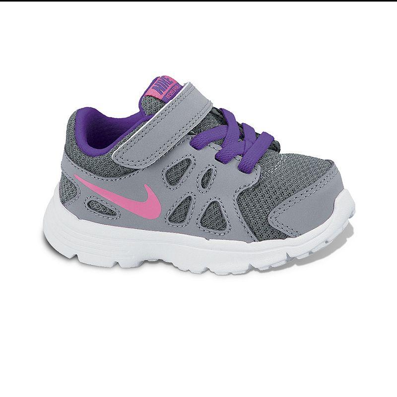 Nike Grey Revolution 2 Running Shoes - Toddler Girls