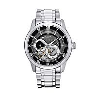 Bulova Men's BVA Stainless Steel Automatic Skeleton Watch - 96A119