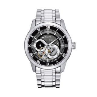 Bulova Men's BVA Stainless Steel Automatic Skeleton Watch - 96A119