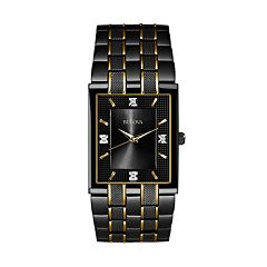 Bulova Men's Diamond Two Tone Stainless Steel Watch - 98D004