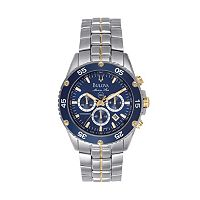 Bulova Watch - Men's Sport Marine Star Two Tone Stainless Steel Chronograph - 98H37