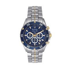 Bulova Watch - Men's Sport Marine Star Two Tone Stainless Steel Chronograph - 98H37