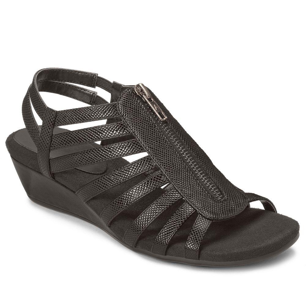 9804dd322d6a A2 by Aerosoles Yetaway Women s Zip-Up Wedge Sandals