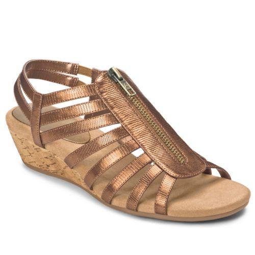 A2 by Aerosoles Yetaway Zip-Up Wedge Sandals  - Women