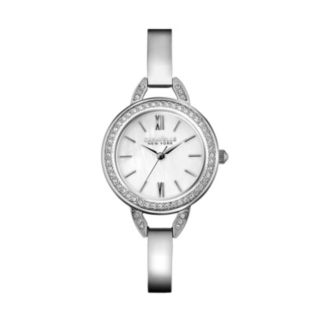 Caravelle New York by Bulova Women's Crystal Stainless Steel Bangle Watch - 43L166