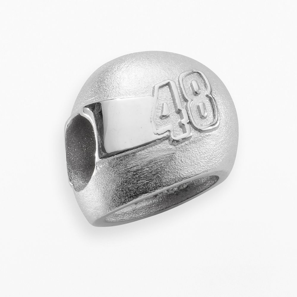 "Insignia Collection NASCAR Jimmie Johnson Sterling Silver ""48"" Helmet Bead"