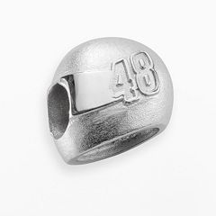 Insignia Collection NASCAR Jimmie Johnson Sterling Silver '48' Helmet Bead