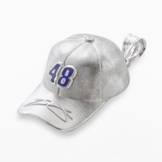 Insignia Collection NASCAR Jimmie Johnson Sterling Silver 48 Baseball Cap Pendant
