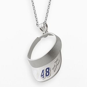 """Insignia Collection NASCAR Jimmie Johnson Sterling Silver """"48"""" Visor Pendant"""