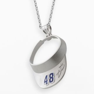 Insignia Collection NASCAR Jimmie Johnson Sterling Silver 48 Visor Pendant