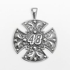 Insignia Collection NASCAR Jimmie Johnson Sterling Silver '48' Maltese Cross Pendant