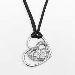 Insignia Collection NASCAR Jimmie Johnson Sterling Silver '48' Heart Pendant