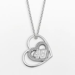 Insignia Collection NASCAR Jimmie Johnson Sterling Silver 48 Heart Pendant