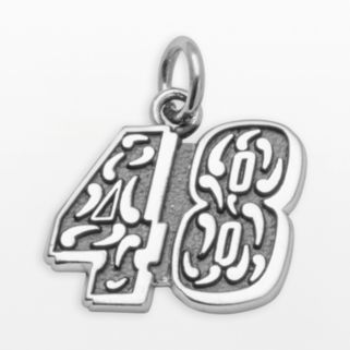 Insignia Collection NASCAR Jimmie Johnson Sterling Silver 48 Pendant