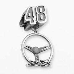 Insignia Collection NASCAR Jimmie Johnson Sterling Silver '48' Steering Wheel Charm