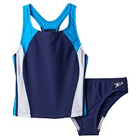 Girls 7-16 Speedo Infinity Splice Performance 2-pc. Tankini Set
