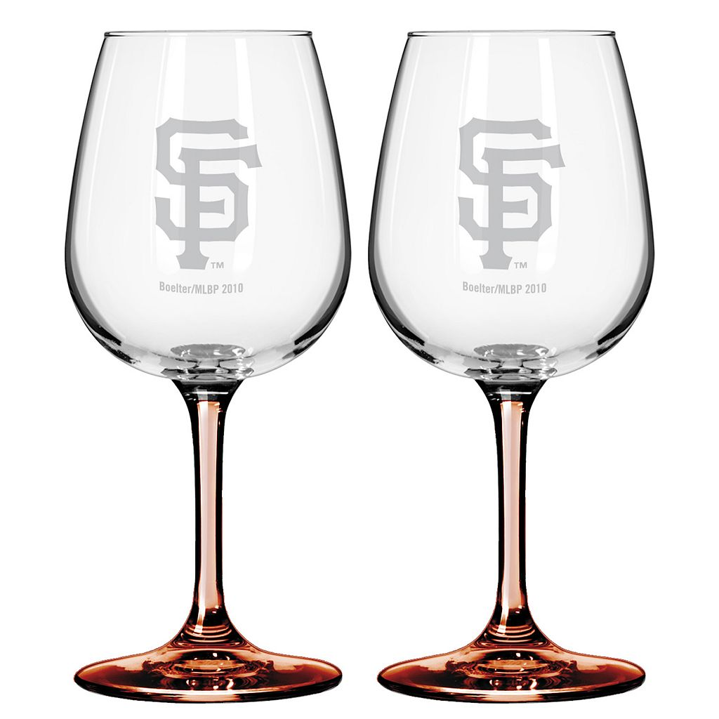 San Francisco Giants 2-pc. Wine Glass Set