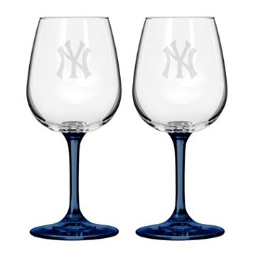 New York Yankees 2-Piece Wine Glass Set