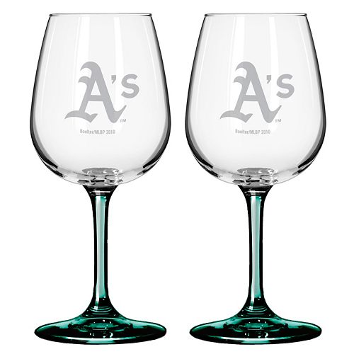 Oakland Athletics 2-pc. Wine Glass Set