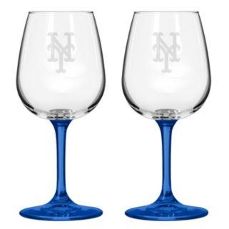 New York Mets 2-pc. Wine Glass Set