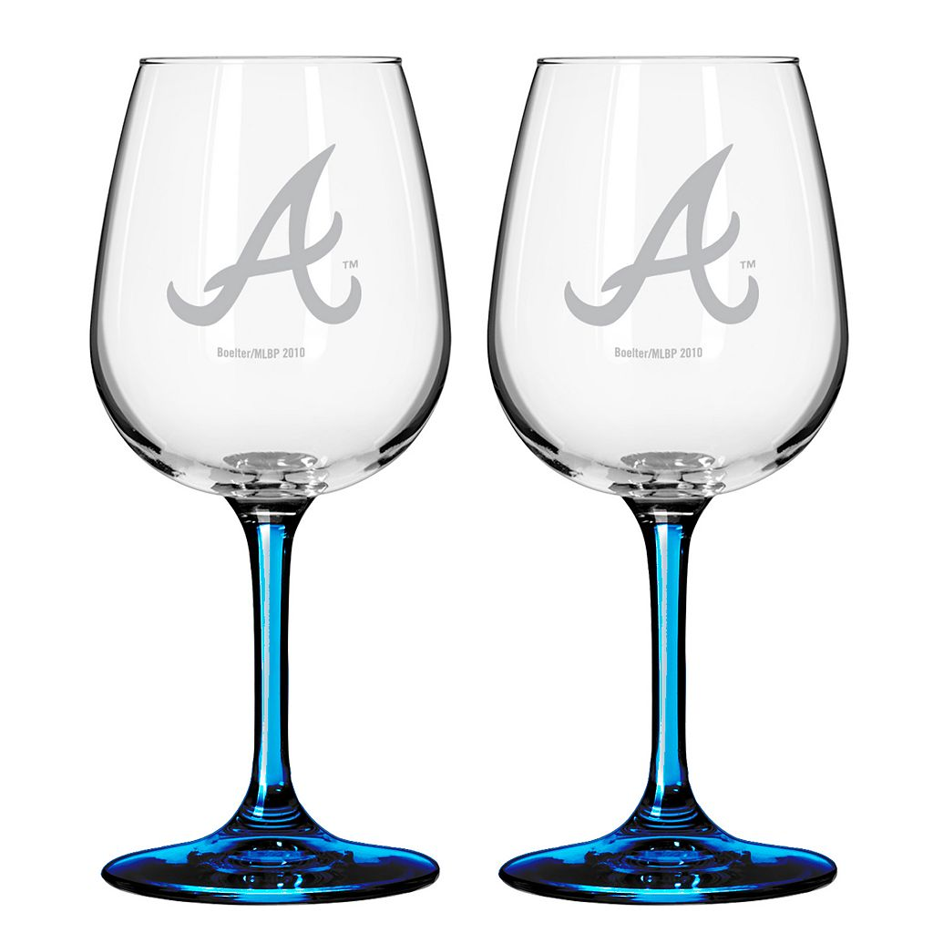 Atlanta Braves 2-pc. Wine Glass Set