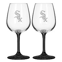 Chicago White Sox 2-pc. Wine Glass Set