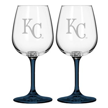 Kansas City Royals 2-pc. Wine Glass Set