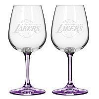 Los Angeles Lakers 2-pc. Wine Glass Set
