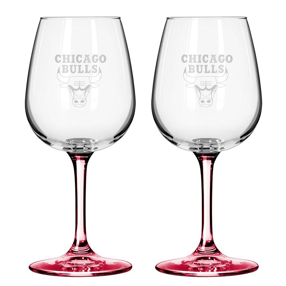 Chicago Bulls 2-pc. Wine Glass Set