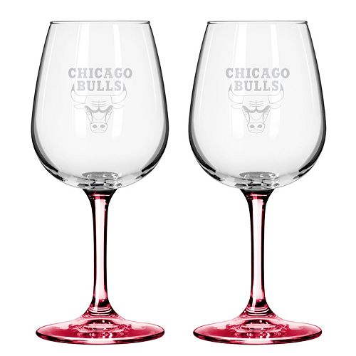 Chicago Bulls 2-pc. Wine Glass Set