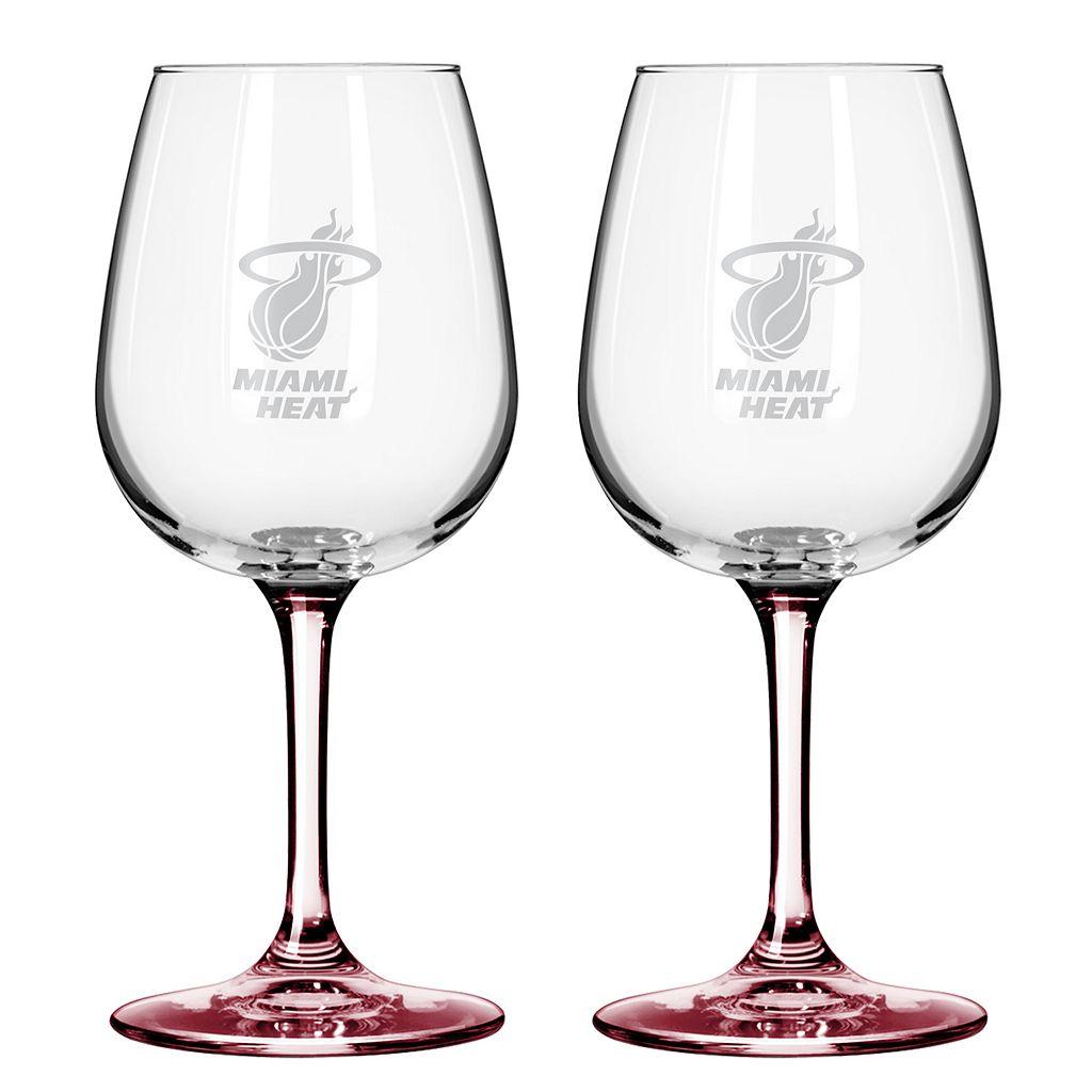 Miami Heat 2-pc. Wine Glass Set
