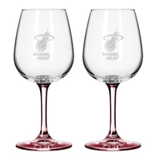 Miami Heat 2-pc. Wine Glass Set