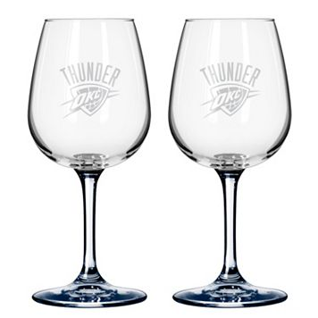 Oklahoma City Thunder 2-pc. Wine Glass Set