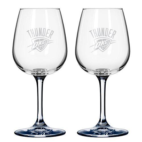 Oklahoma City Thunder 2-pc. Wine Glass Set
