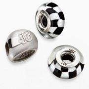 Insignia Collection NASCAR Jimmie Johnson Sterling Silver '48' Helmet Bead Set