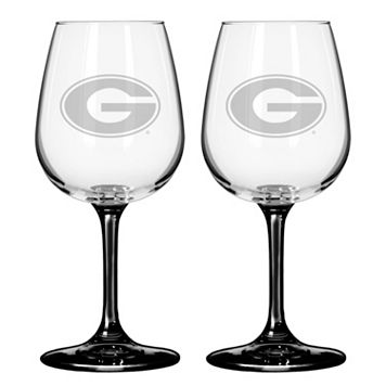 Georgia Bulldogs 2-pc. Wine Glass Set