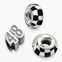 Insignia Collection NASCAR Jimmie Johnson Sterling Silver '48' Bead Set